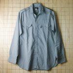 古着USA製メンズ長袖ビンテージ肩ベルトワークシャツ【LEVI'Sリーバイス】