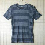 古着ヨーロッパ製ボーダー(グレー×ホワイト) Tシャツ