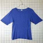 古着ヨーロッパ製 無地紺(ネイビー)レーヨンTシャツ