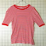 古着ヨーロッパ製ボーダー(レッド×ホワイト) Tシャツ