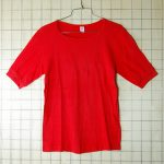 古着ドイツ製 無地赤(レッド)コットン100%ユーロTシャツ【free&easy】