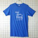 古着USA製Maple Groveブルー(青)プリントTシャツ【ABC】