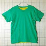 古着USA製リバーシブル グリーン(緑)/イエロー(黄)Tシャツ【Merry Garden Athletic Wear】