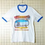 古着USA(アメリカ)製timber line 80'sリンガーTシャツ