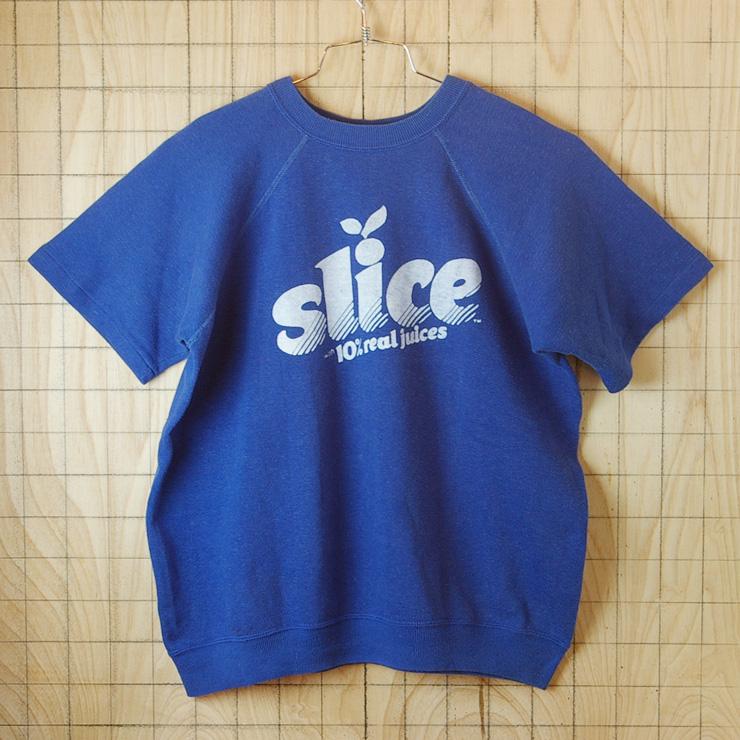 古着メンズUSA(アメリカ)製slice-with-10%real-juices70s半袖スウェット・トレーナー【Sportswearスポーツウェア】