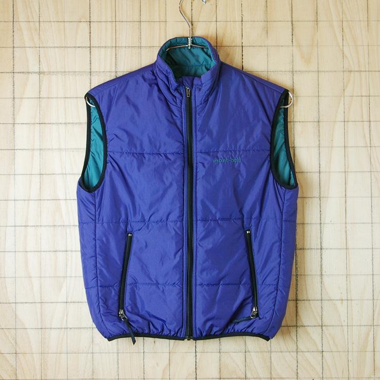 古着 レディース・キッズ-モンベル-パープル(紫)ナイロン100%ナイロンベスト【mont-bell】