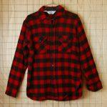 古着ウールリッチ レッド×ブラック(赤×黒)長袖メンズバッファローチェックウールシャツ【Woolrich】