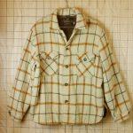 古着メンズUSA製ベージュ×ブラック×ブラウンチェック裏地付きウールシャツ【CAMPUSキャンパス】