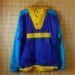 古着 ノースフェイス-パープル×ブルー×イエロー(紫×青×黄)ナイロン100%アウトドア-ナイロンジャケット【THE NORTH FACEノースフェイス】