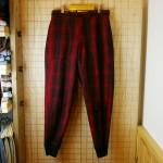 【WOOLRICH】古着USA製50sビンテージウール100%レッド×ブラック(赤×黒)ハンティングパンツ