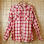 【Levis】USAビンテージ50s古着ショートホーンレッド(赤)チェックウエスタンシャツ