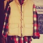 50~60s woolrich wool shirts &70s woolrich down vest