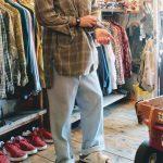 France Old Grand Father Shirts & Stripe Pants & BIRKENSTOCK Sandal