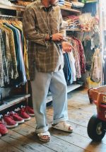 France Old Grand Father Shirts & Stripe Pants & BIRKENSTOCK Sandal