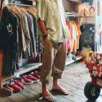 60S VINTAGE Stripe & Gingham LOOP SHIRTS & RAINBOW SANDALS