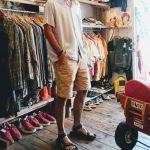 60S VINTAGE RAYON LOOP SHIRTS & TEVA SANDAL