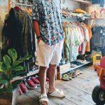 80s Euro Rayon Shirt & French Lacoste Shorts & BIRKENSTOCK ARIZONA Sandal