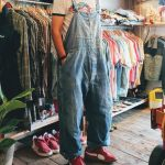 60s Sears Denim Overall & MAGIC MOUNTAIN Print T-shirt & Puma Suede Sneaker