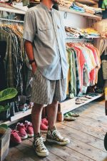 70s BIGMAC Remake Chambray Shirt & French Lacoste Gingham check Shorts