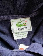 80s French Lacoste Navy Polo Shirt