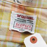 60s McGREGOR Checked S/S OPEN COLLAR SHIRT