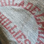 """60s Collegiate Pacific Stain Print Vintage Tee """"Gray color"""""""
