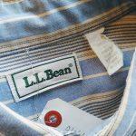 LLBean Striped L/S Button Down Shirt