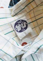 70s-80s Euro Checked S/S Cotton Box Shirt