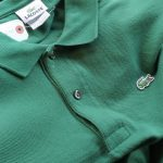 "FRENCH LACOSTE ""Green COLOR"" L/S POLO SHIRT"