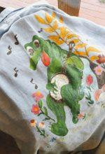 70s Handmade Paint L/S CHAMBRAY ButtonDown SHIRT