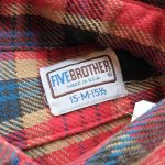70s-80s FIVE BROTHER Check Heavy Flannel Shirt