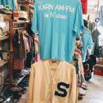 Damage 60s King Louie Holiday vintage Bowling shirt & 50s vintage Lettered Cardigan