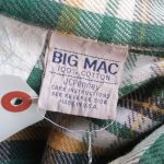 70s JCPenney BIGMAC Vintage Heavy Weight Checked Flannel Shirt