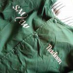 70s-80s DeLONG Nylon Varsity Jacket