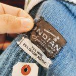 50s-60s Vintage INDIAN Sportswear Wool Zip-up Cardigan