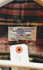 70s USA CONE MILLS L/S Heavy Weight Flannel Check Shirt