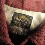 60s Vintage TREVELLA Wool&Cotton Box Shirt