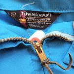 USA 1960s Penneys TOWNCRAFT Light Blue Zip-up Jacket