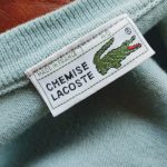 1970s French Lacoste Light Green Wool Cardigan