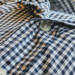 60s-70s Gingham check S/S Open Collar Shirt