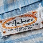 60s MATT Andrews Open Collar S/S Check Shirt