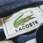 French Lacoste S/S Cotton Border Polo Shirt