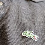 French Lacoste Black Color S/S Cotton Polo Shirt