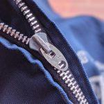 USA 60s College Print Lightning Zip Cotton Jacket
