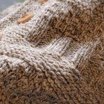 EURO Hand Knitted Aran Wool Cardigan
