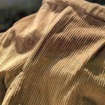 80s France Light Brown  Corduroy 2-tuck Wide Pants W36