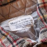 1960s-70s USA Macy's Plaid Wool Shirt