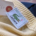 Big size 80s French Lacoste Cotton Knit Sweater XXL