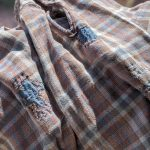 1950s-60s French Plaid Grandfather Shirt