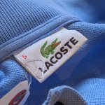 French Lacoste Light-Blue Color L/S Cotton Polo Shirt 送料無料キャンペーン中!